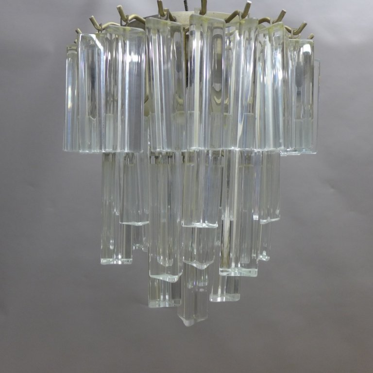 Vintage Italian Murano Glass Chandelier by Camer