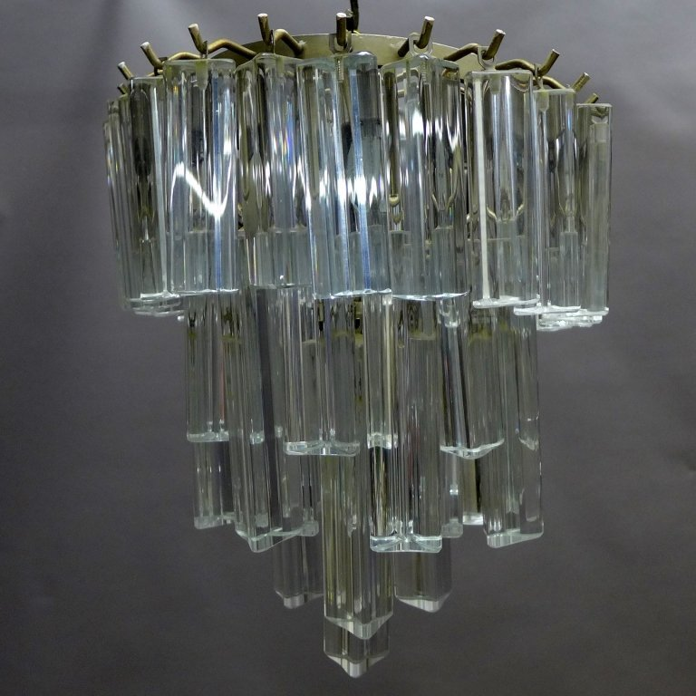 Vintage Italian Murano Glass Chandelier by Camer - 2
