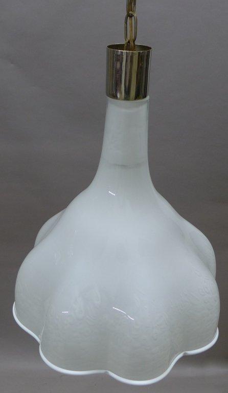 Murano Glass Chandelier w/ Scalloped Edge Design - 10