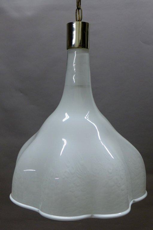 Murano Glass Chandelier w/ Scalloped Edge Design