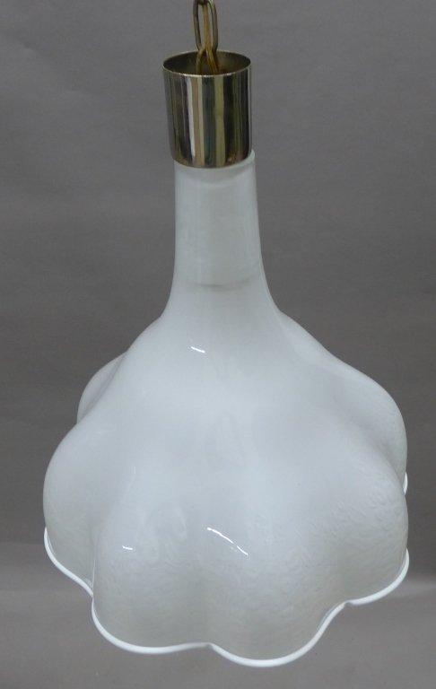 Murano Glass Chandelier w/ Scalloped Edge Design - 8