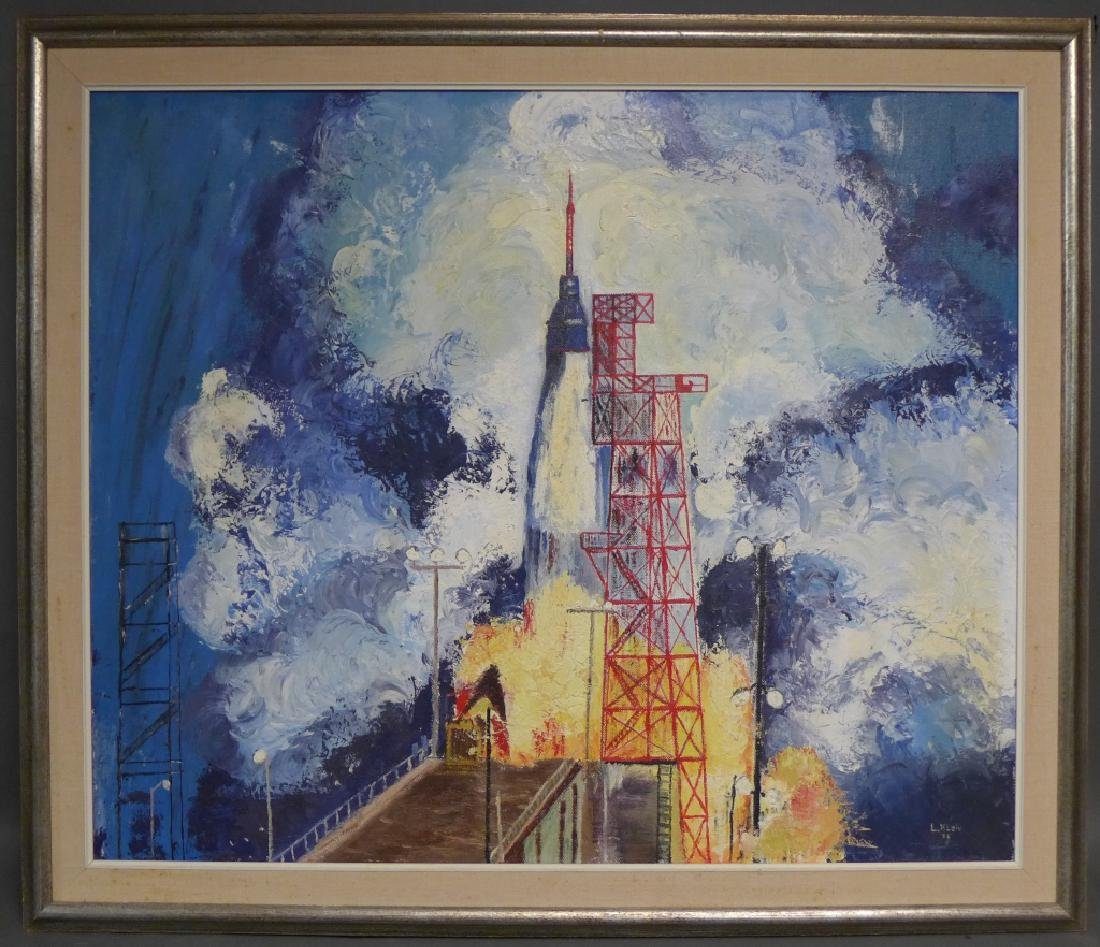 Signed Spacecraft Painting of Friendship 7