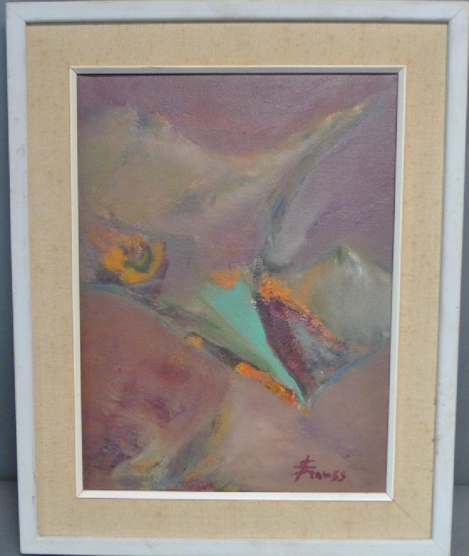 Signed Modern Abstract Painting