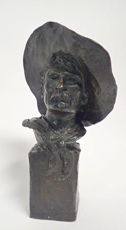 "Frederic Remington, ""The Sergeant"" Bronze - 10"
