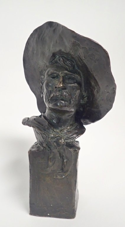 "Frederic Remington, ""The Sergeant"" Bronze - 10"