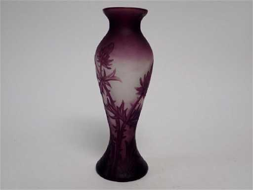 Cameo Glass Vase Signed C Vessiere Nancy