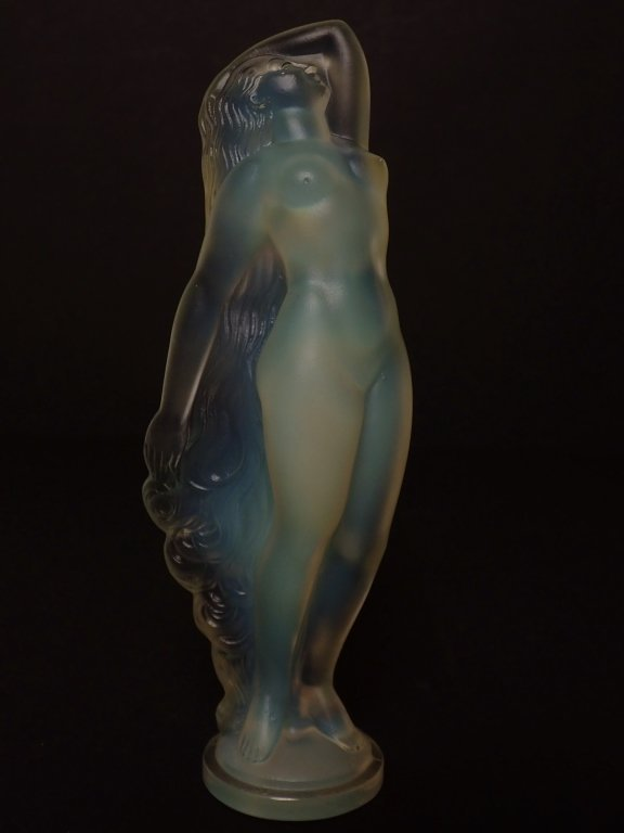 """Silhouette"" Art Glass Figurine Signed Sabino"