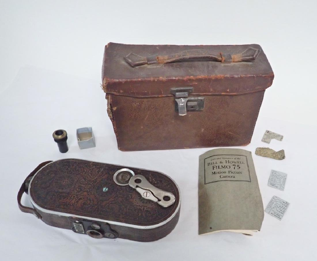 Antique Bell & Howell Filmo 75 Video Camera w Case