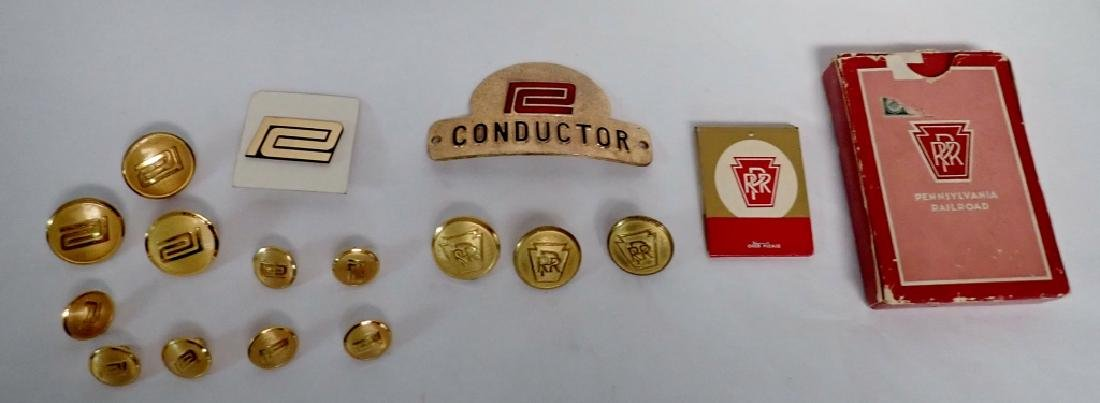 Vintage Railroad Conductor Buttons, Badge & More