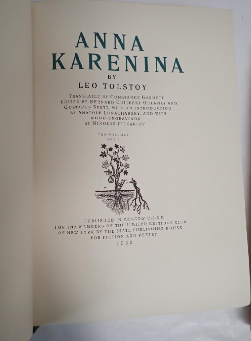 Vintage Two Volume Set Tolstoy Anna Karenina 1933 - 3