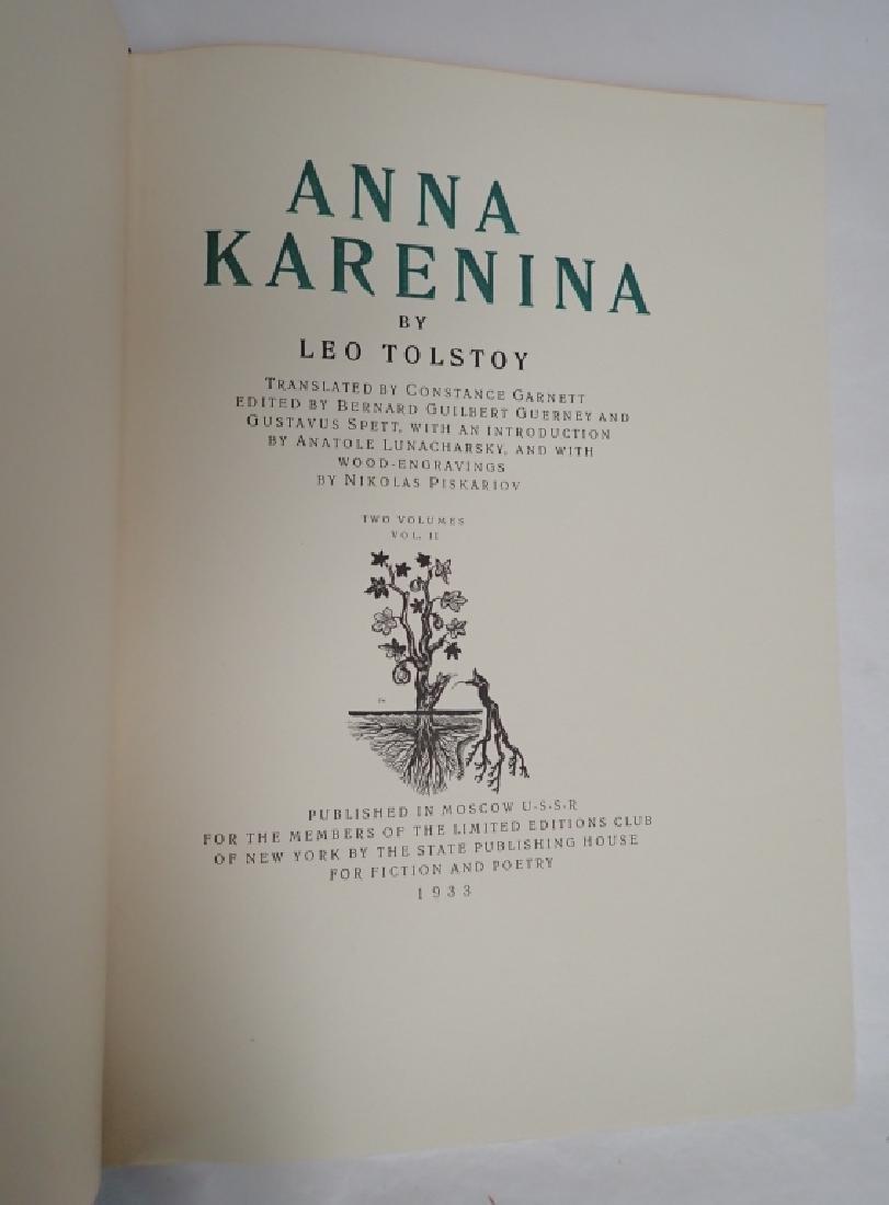 Vintage Two Volume Set Tolstoy Anna Karenina 1933 - 6