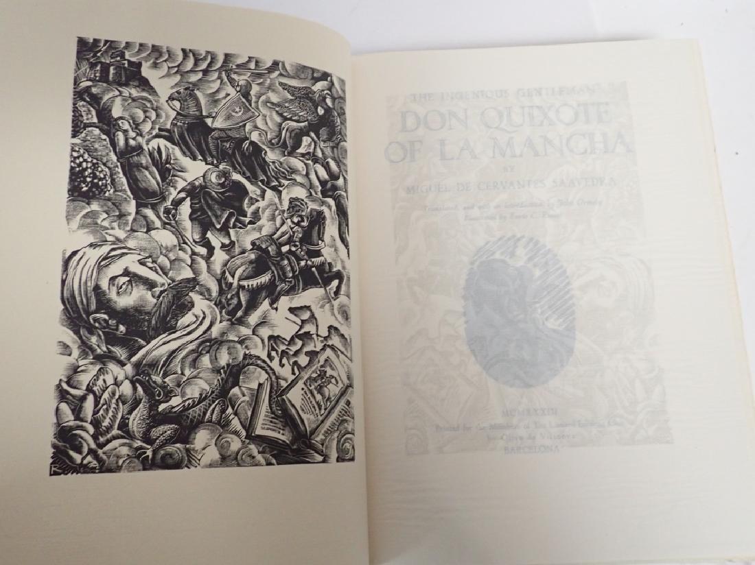 1933 Edition Don Quixote De La Mancha 2 Volumes - 3