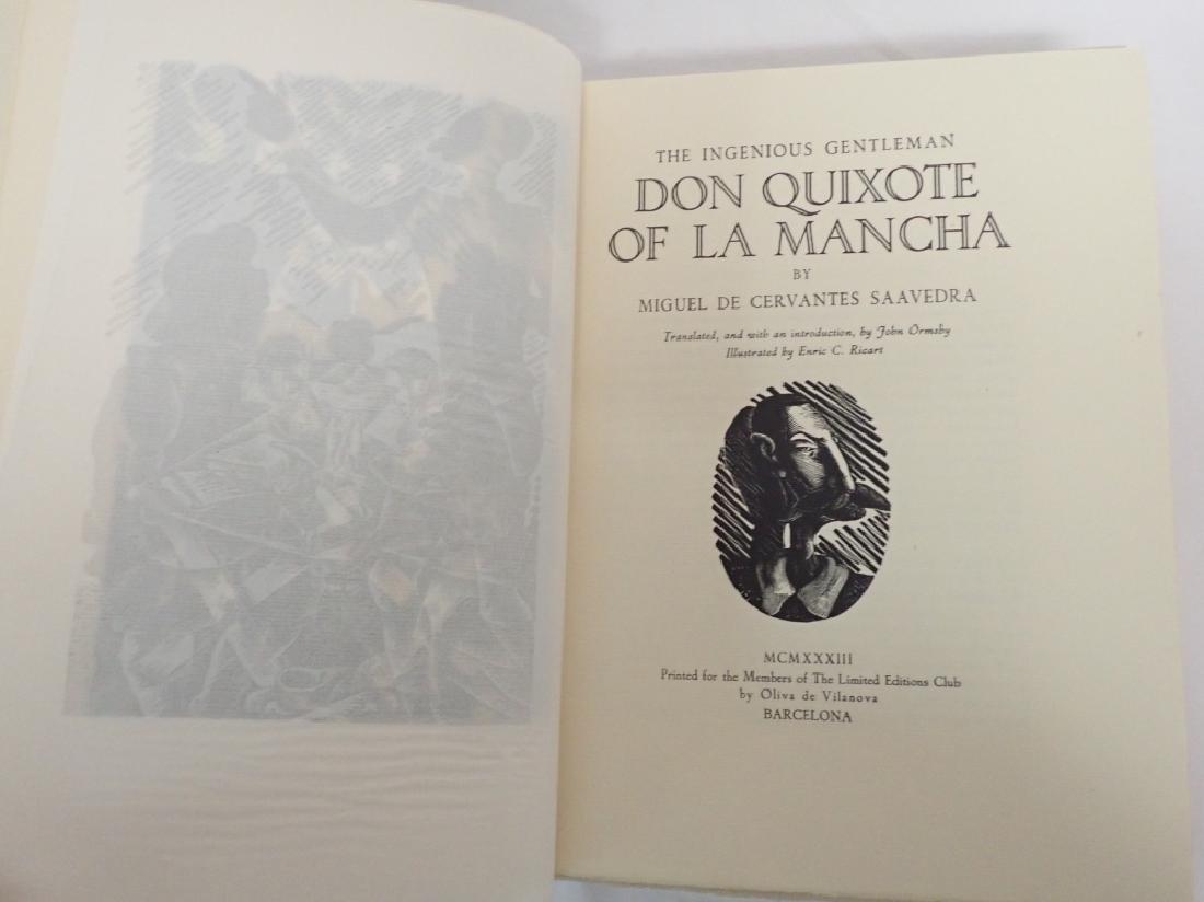 1933 Edition Don Quixote De La Mancha 2 Volumes - 6