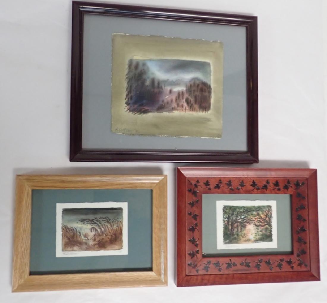 Three of Watercolors by Reina Gillson