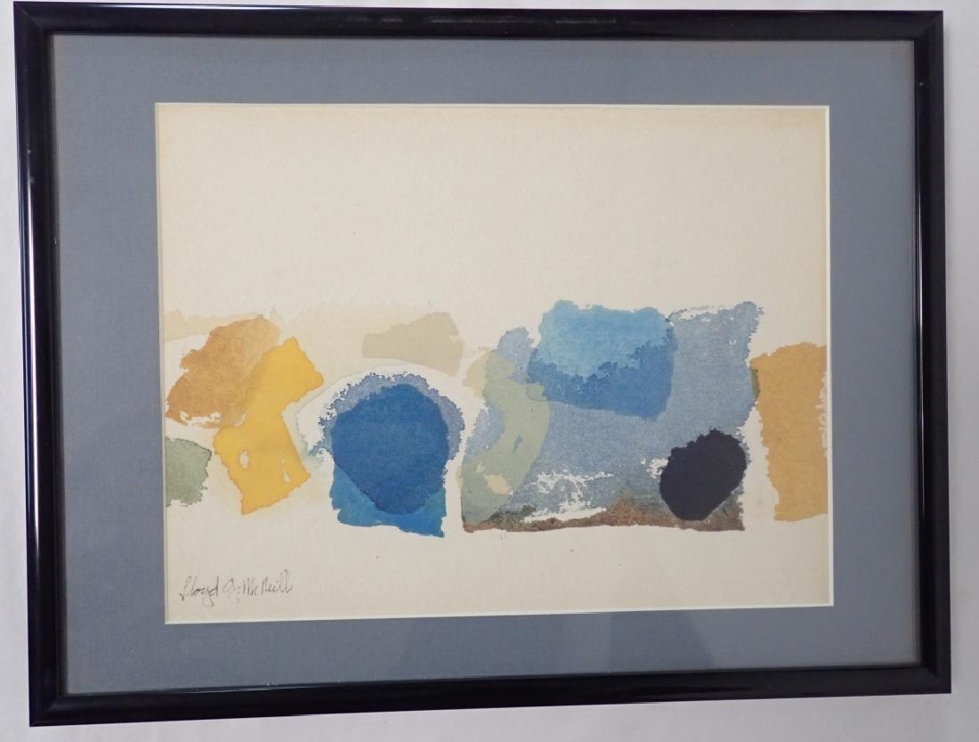Lloyd McNeill (born 1935) Abstract Watercolor
