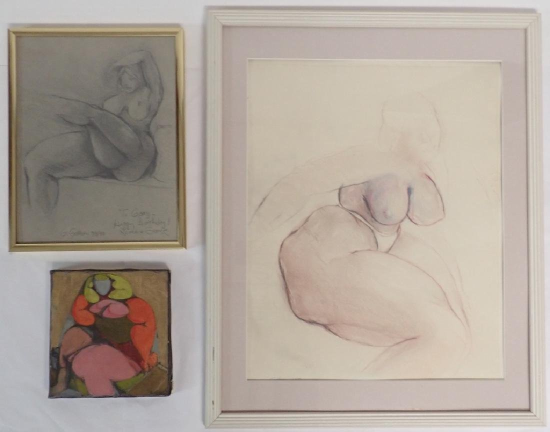 Assorted Figural Nude Drawings by G. Gillson
