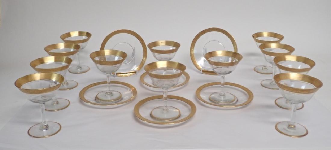 Gilt Trimmed Glassware Set