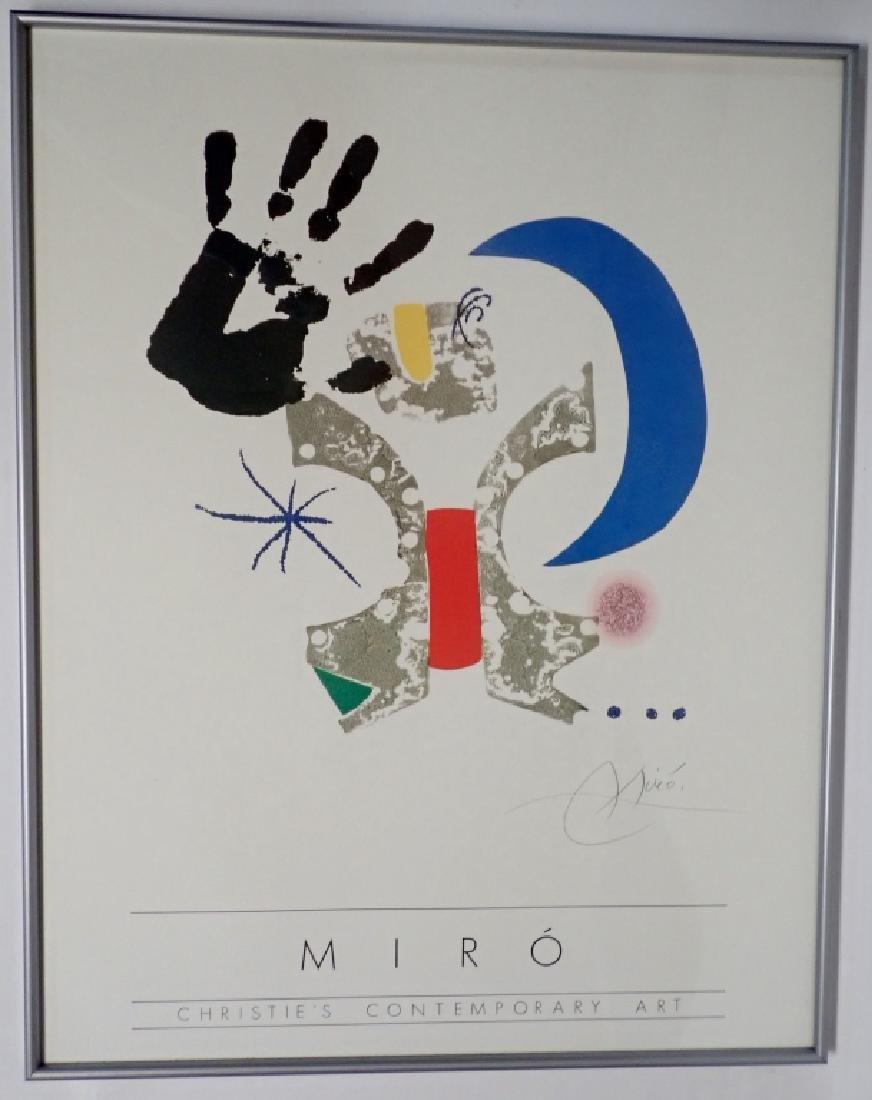 Joan Miro, Christies Contemporary Art, Poster