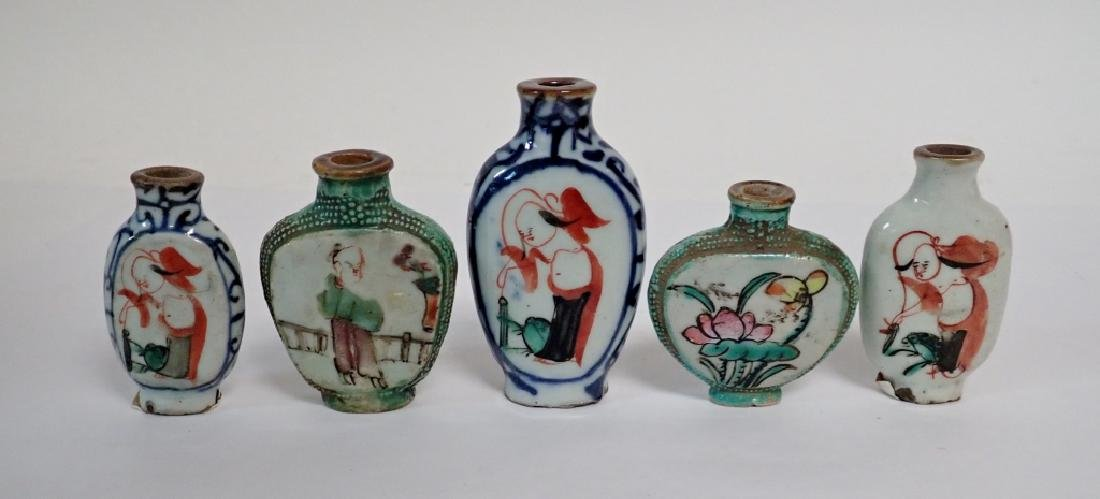 Painted Chinese Porcelain Snuff Bottles