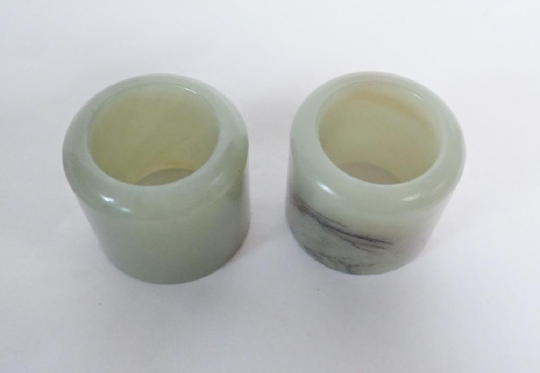 Pair of Chinese Jade Archer's Rings - 3