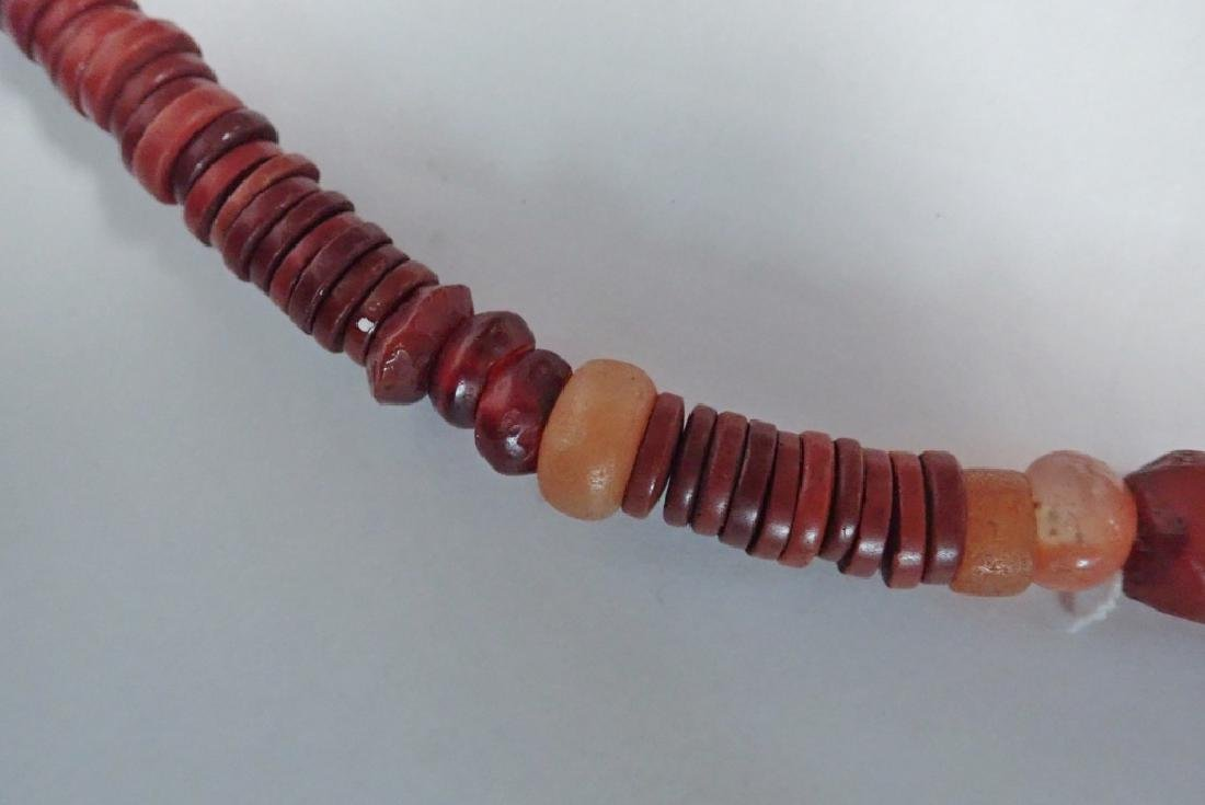 3 Chinese Amber & Stone Statement Necklaces - 9