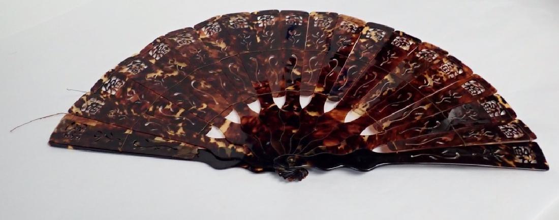 Chinese Tortoise Shell Fan - 2