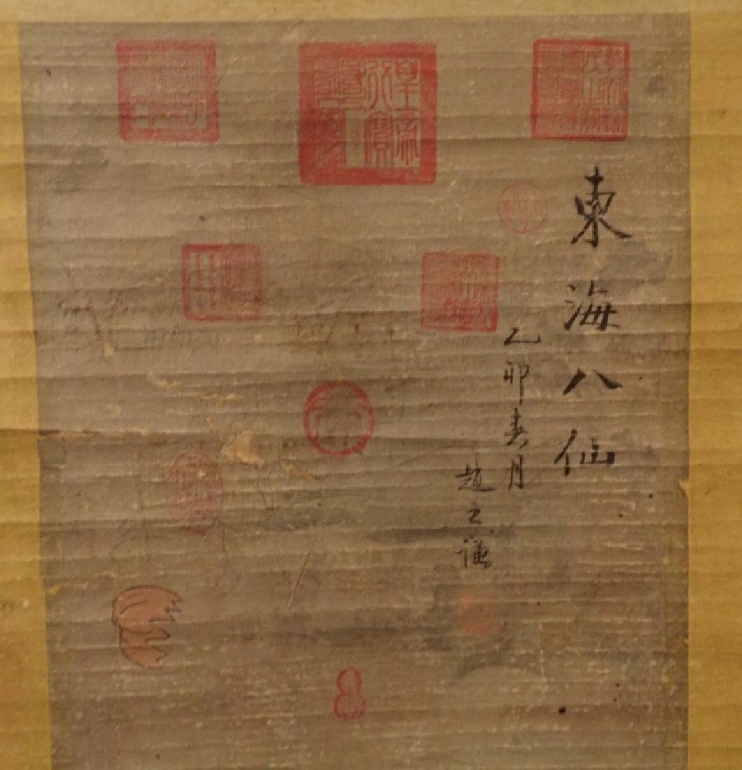 Antique Chinese Painted Scroll - 3