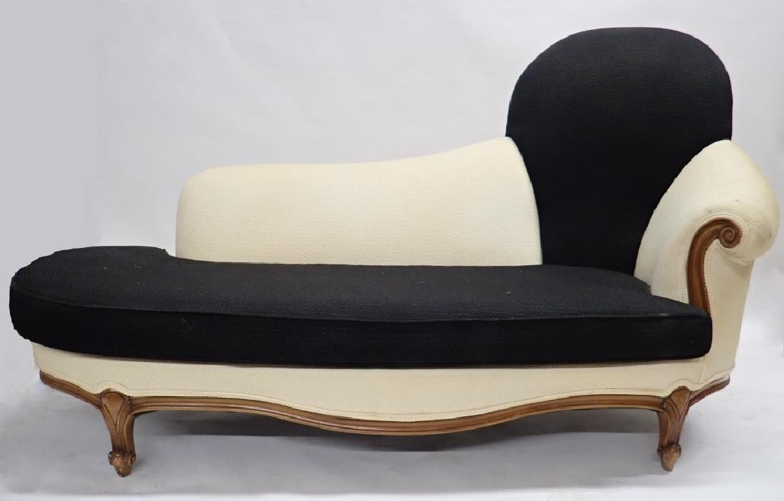 Art Deco Fabric Chaise Fainting Couch