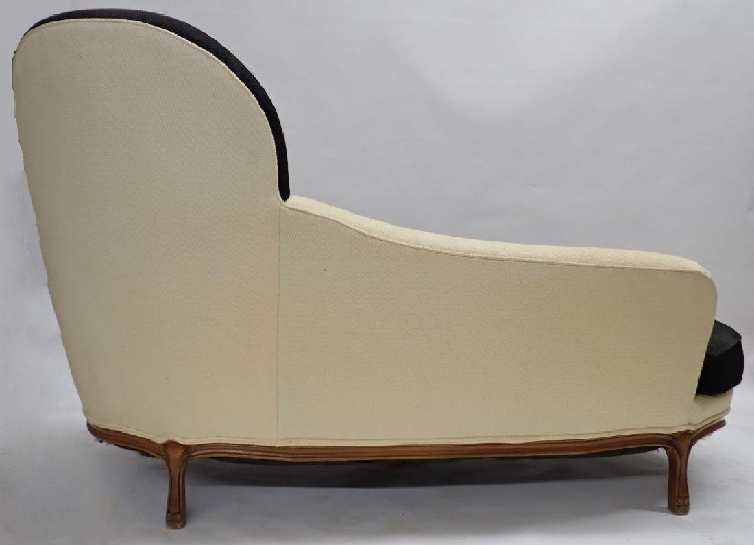 Art Deco Fabric Chaise Fainting Couch - 4