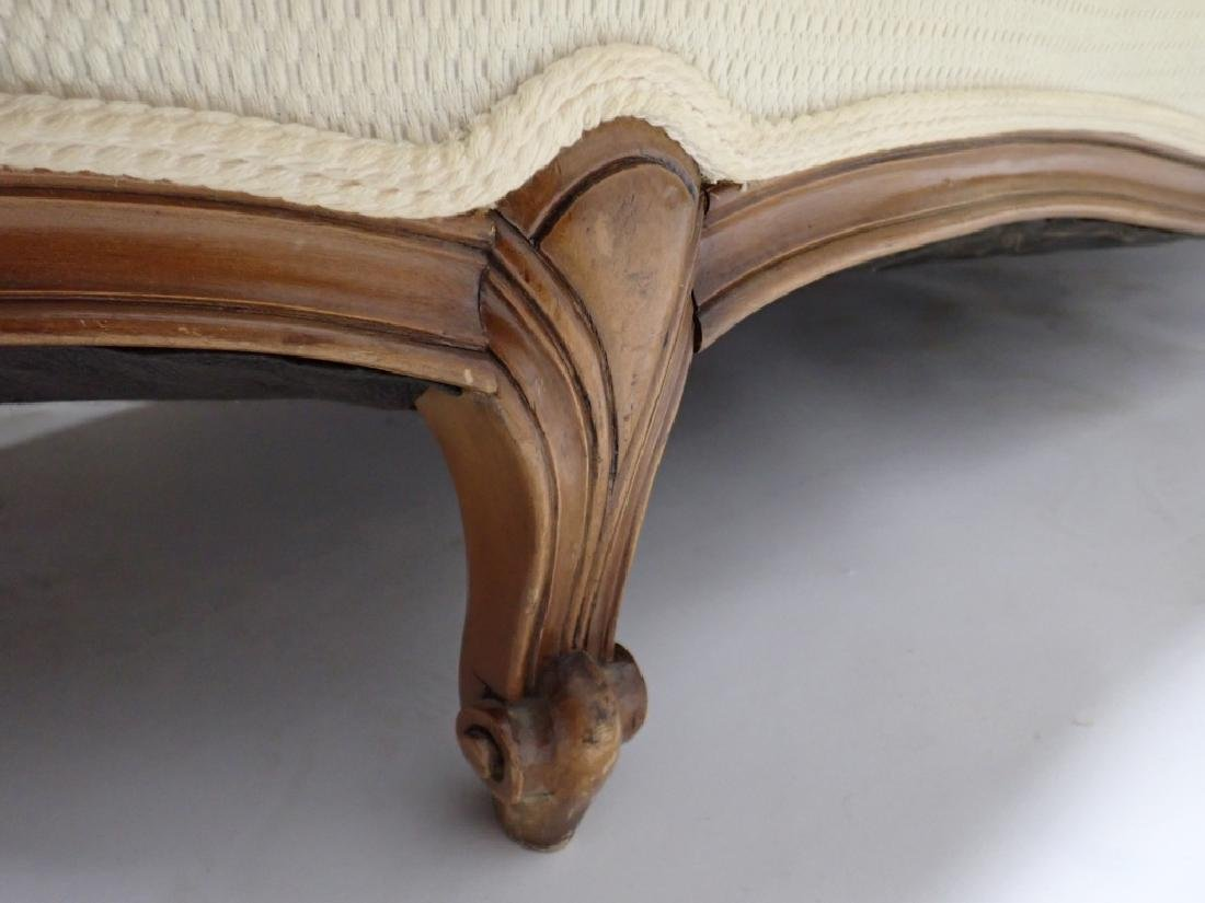 Art Deco Fabric Chaise Fainting Couch - 6