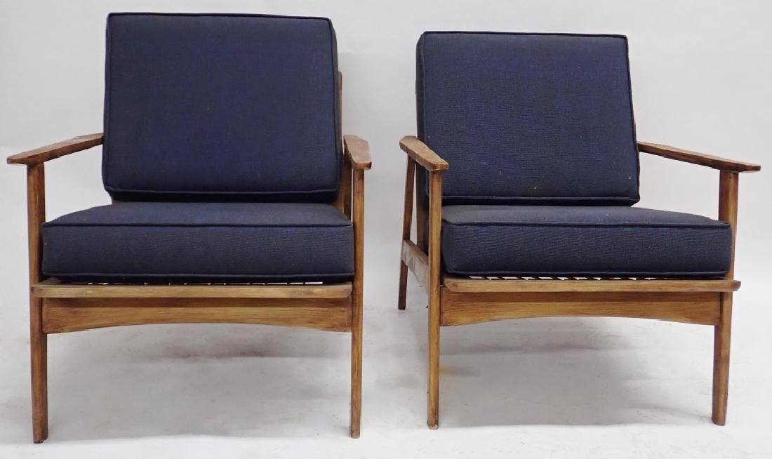 Pair of Modern Wooden Chairs with Cushions