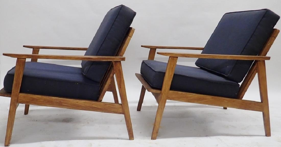 Pair of Modern Wooden Chairs with Cushions - 2