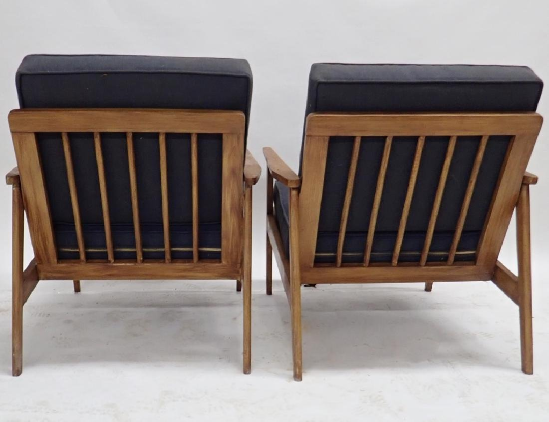 Pair of Modern Wooden Chairs with Cushions - 3