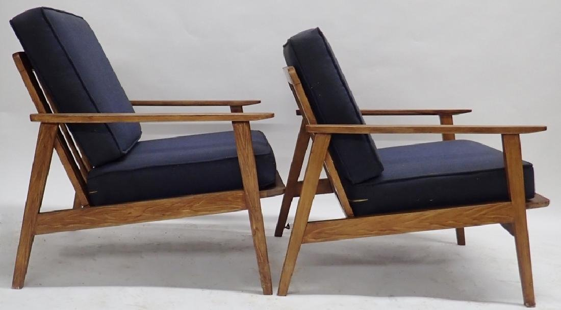 Pair of Modern Wooden Chairs with Cushions - 4