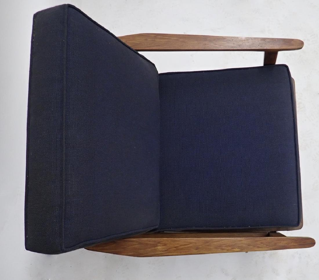 Pair of Modern Wooden Chairs with Cushions - 6
