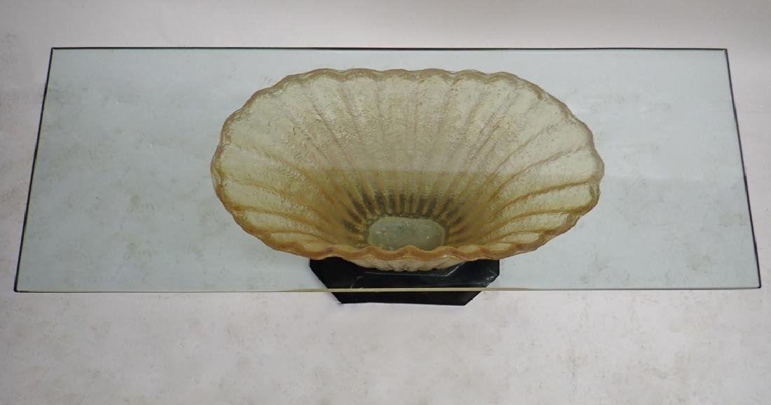 Art Deco Glass Table with Cast Resin Base - 2
