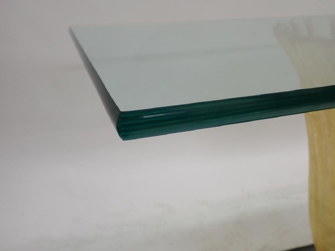Art Deco Glass Table with Cast Resin Base - 6