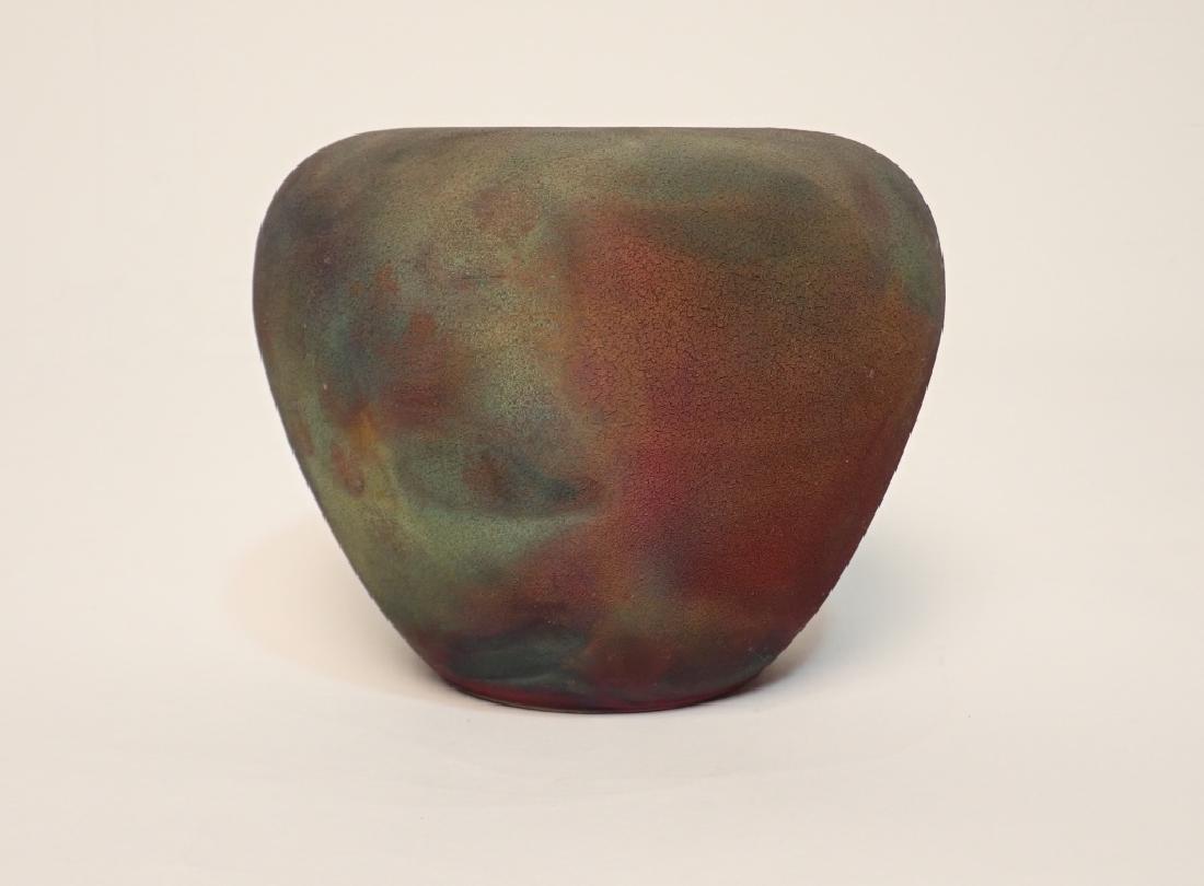 Les Mitchell Raku Ceramic Pottery Vase - 2