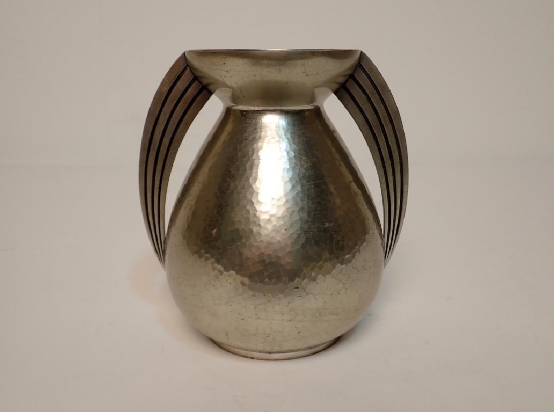 Rene Delavan Art Deco Pewter Dinanderie Vase