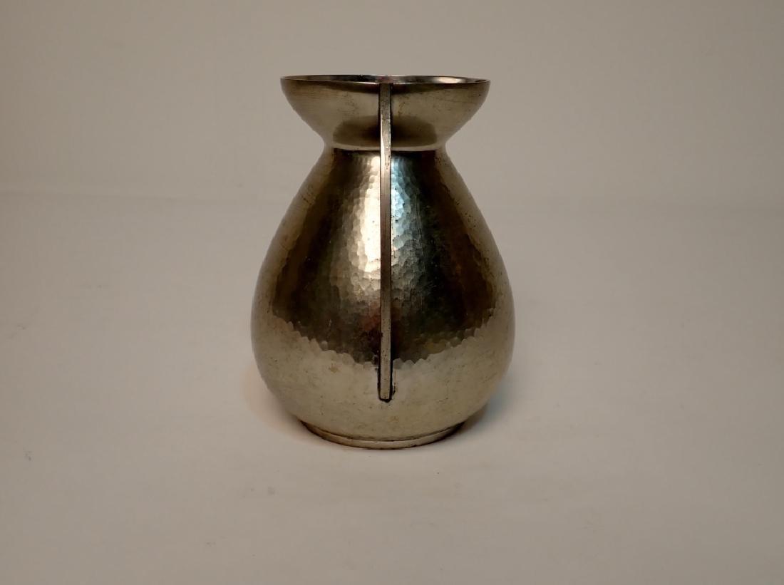 Rene Delavan Art Deco Pewter Dinanderie Vase - 4