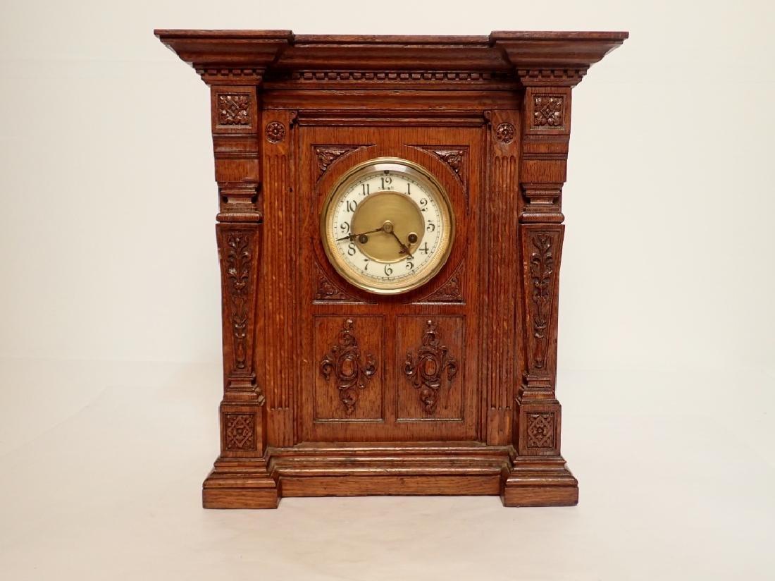 Waterbury Clock Co. Wooden Clock