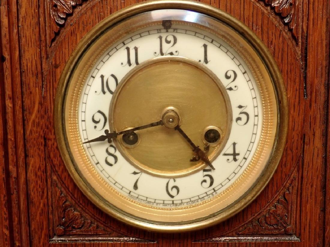 Waterbury Clock Co. Wooden Clock - 6