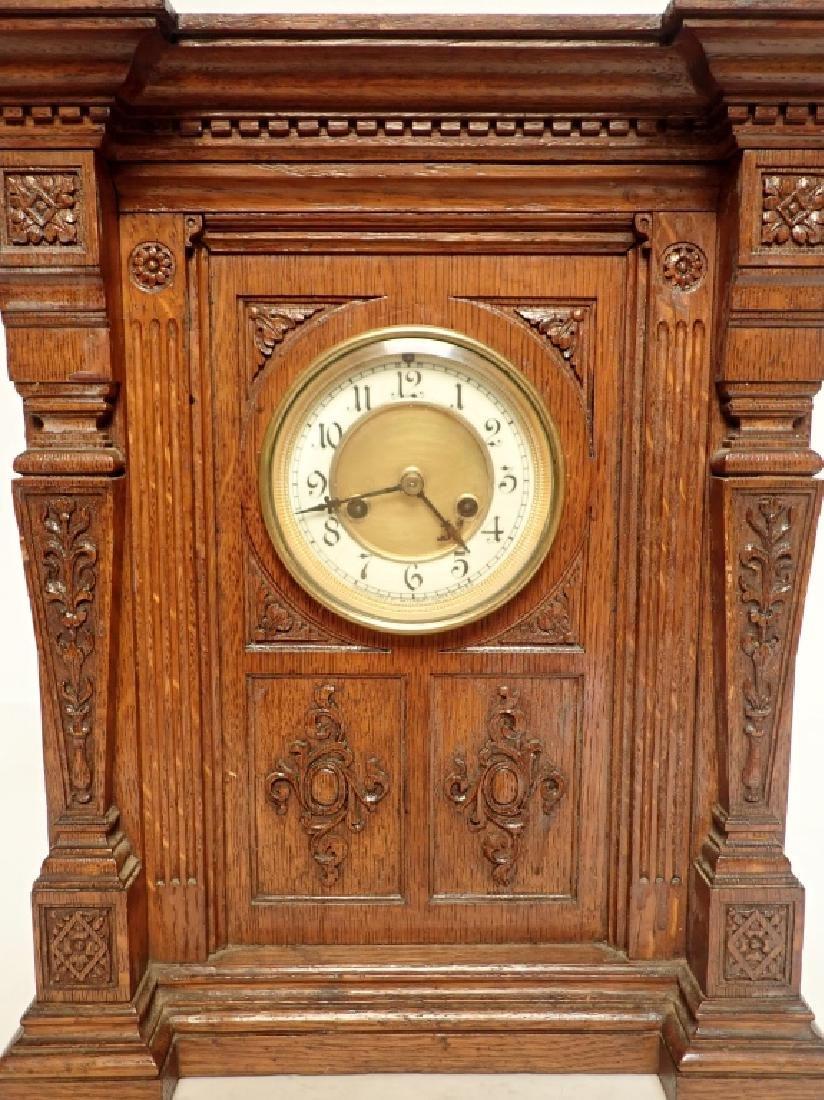 Waterbury Clock Co. Wooden Clock - 7