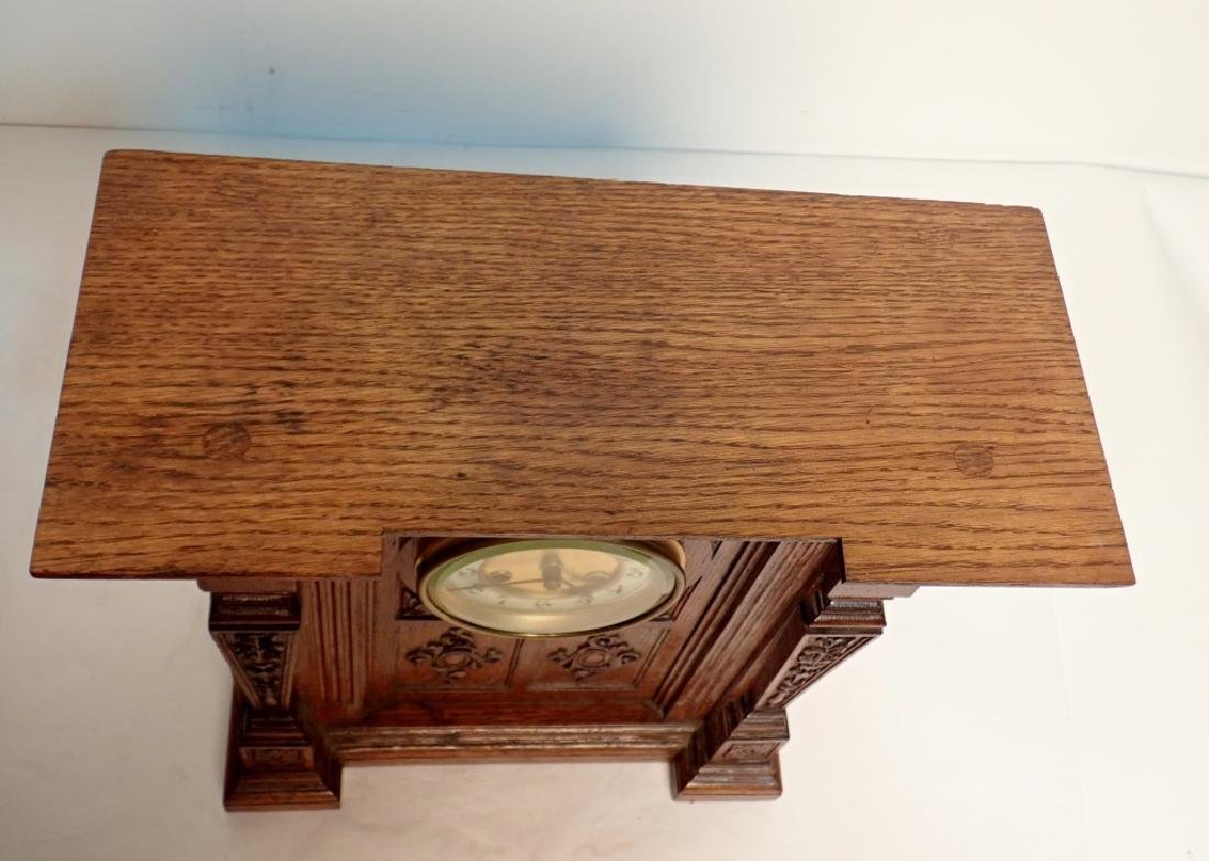 Waterbury Clock Co. Wooden Clock - 9