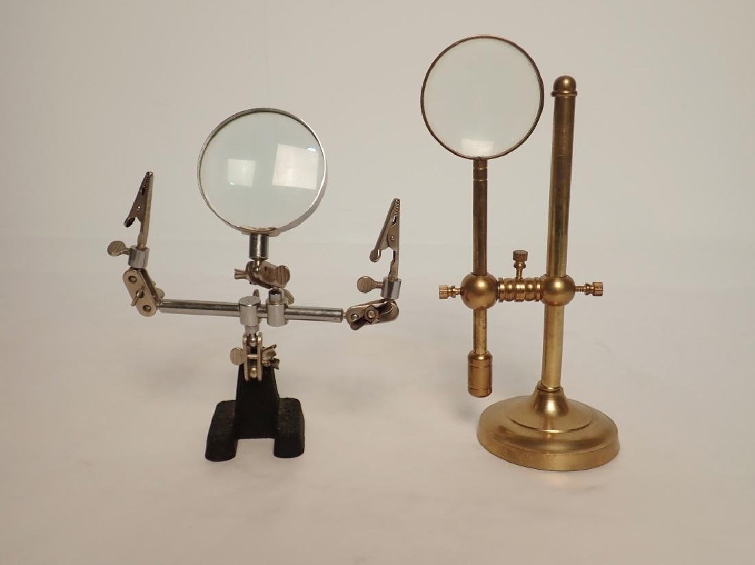 Pair of Magnifying Glasses with Stands