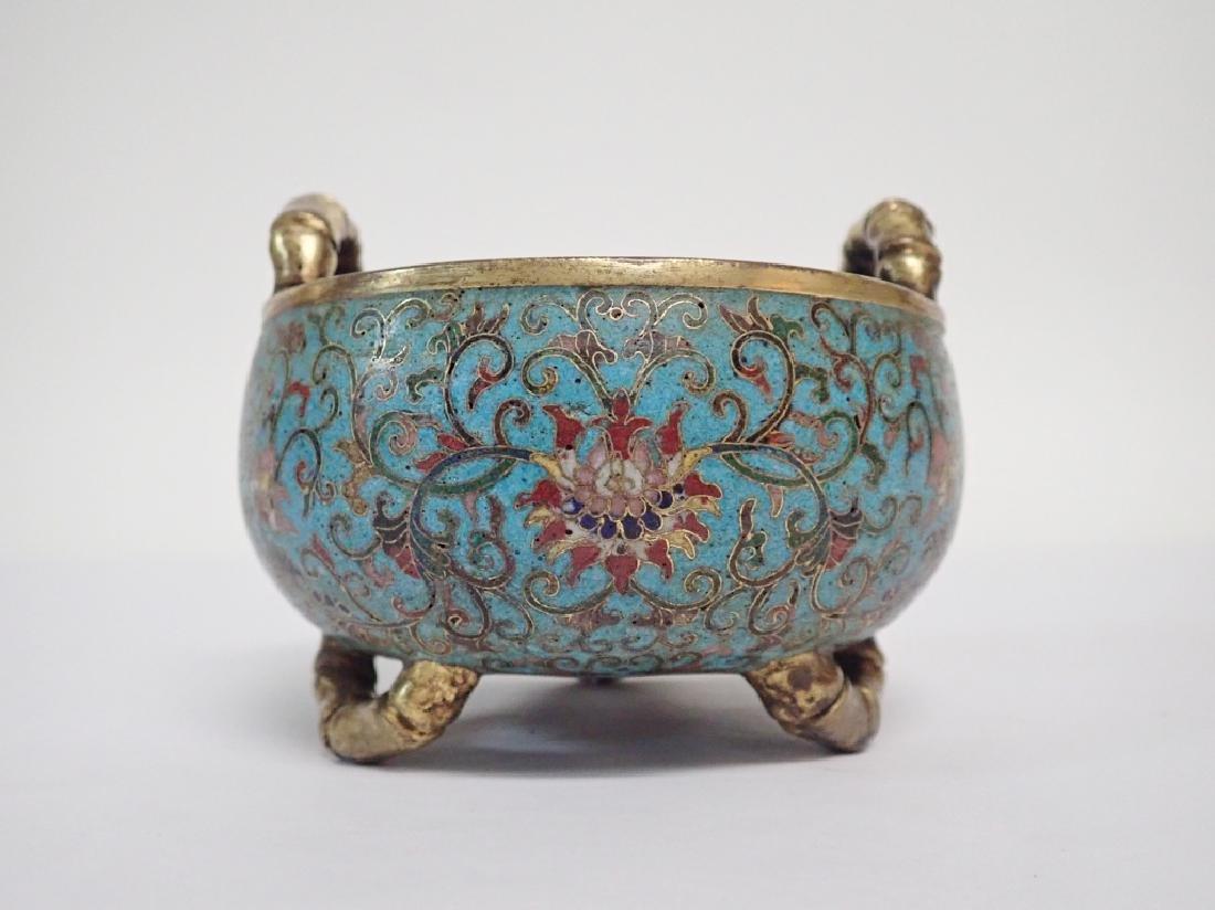 Chinese Cloisonne & Bronze Censer
