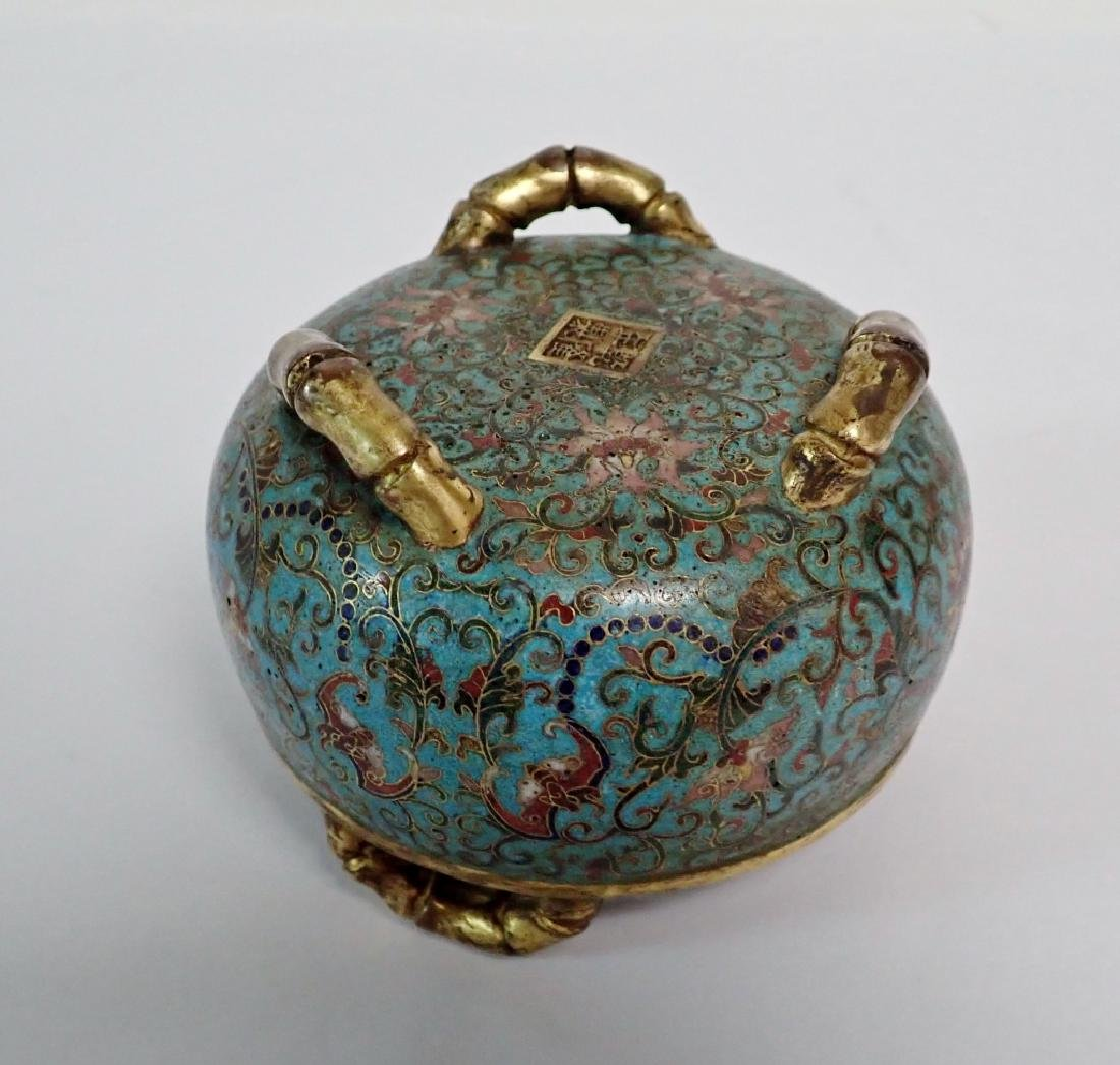 Chinese Cloisonne & Bronze Censer - 4