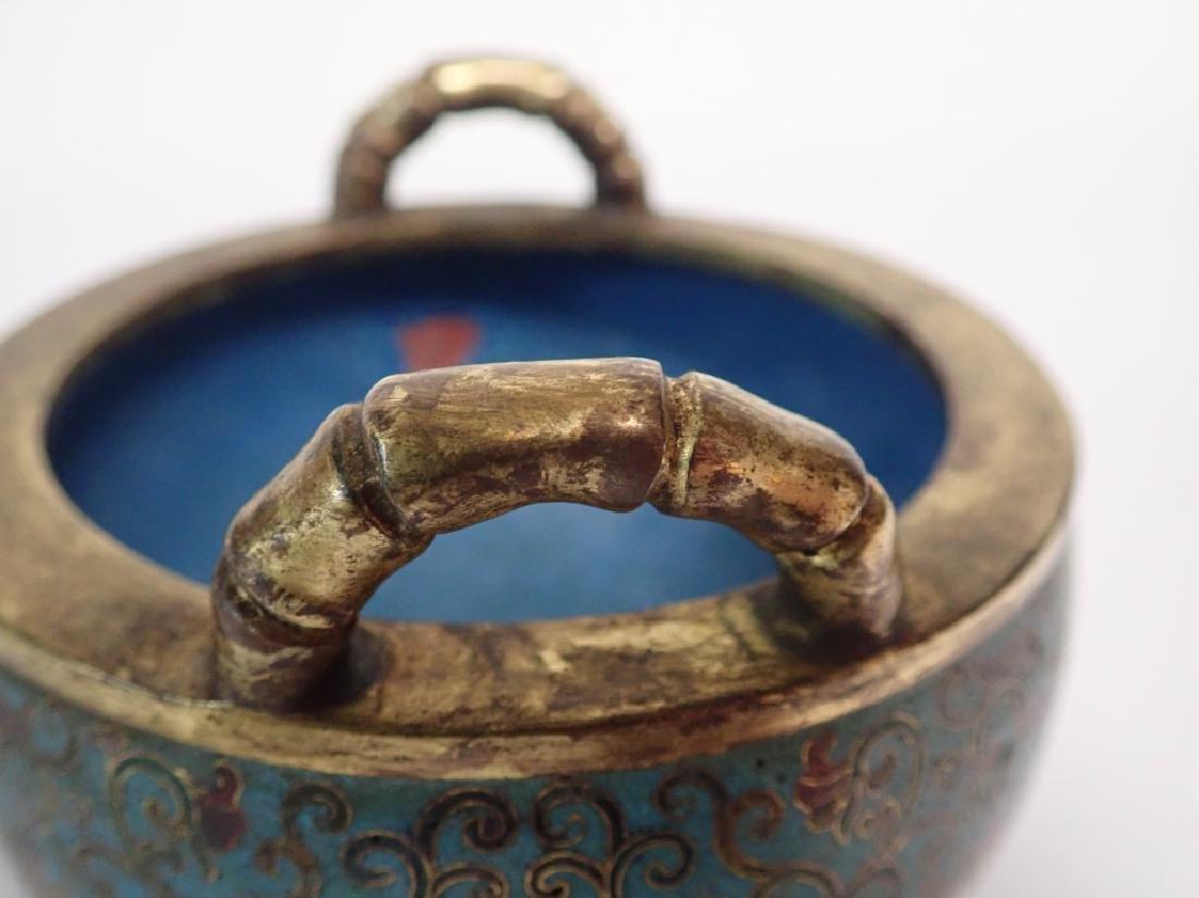 Chinese Cloisonne & Bronze Censer - 7