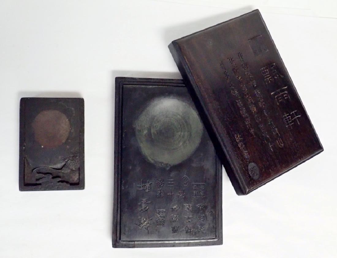 Pair of Chinese Inkstones