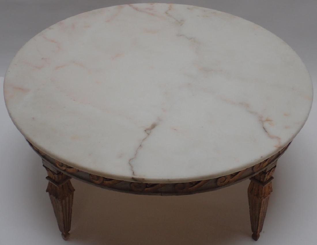Round Marble Top Low Table - 2